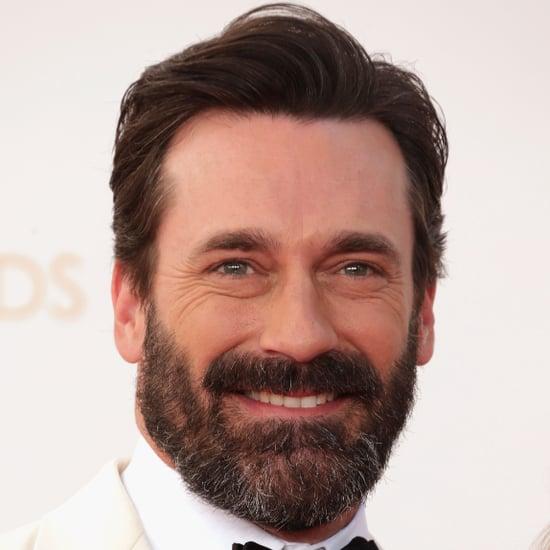 Jon Hamm Beard at Emmys 2013
