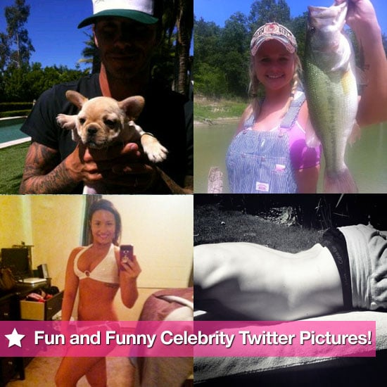 Fun and Funny Celebrity Twitter Pictures From Lara Bingle, Demi Lovato, Ashton Kutcher, Victoria Beckham