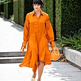 Wear Yellow Heels With an Orange Dress