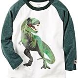Raglan Dinosaur T-Rex Graphic Tee
