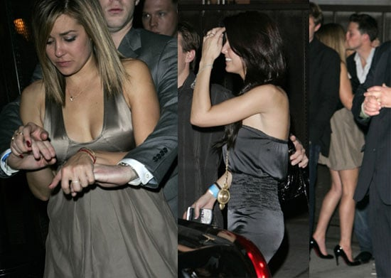 LC and Audrina Head Out of The Hills For NYE