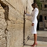 Melania's Red-and-White Striped Pumps