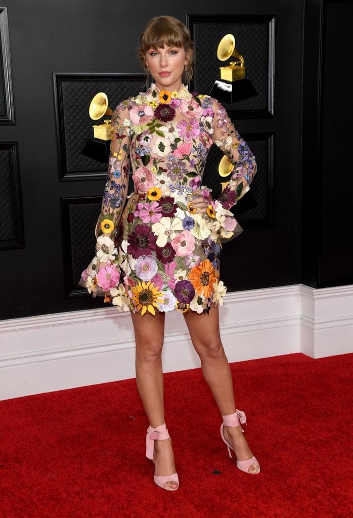Taylor Swift's Oscar de la Renta Dress at the 2021 Grammys