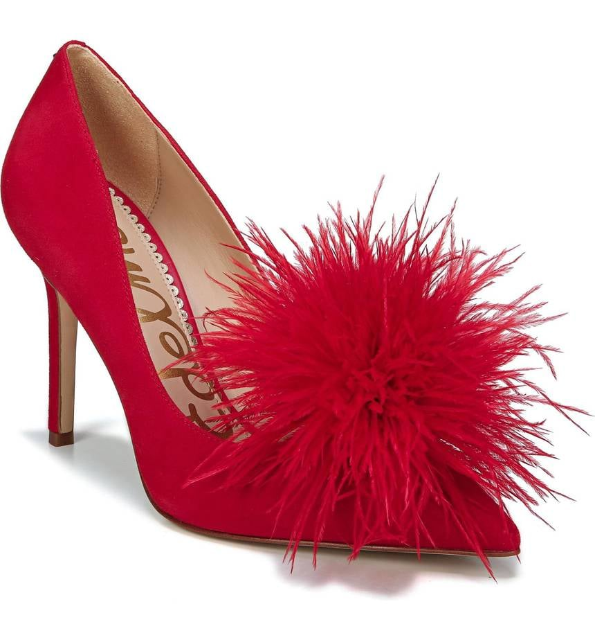 Sam Edelman Haide Feather Pom-Pom Pumps
