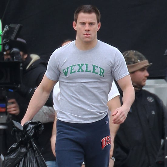 Channing Tatum on the Foxcatcher Set in Pittsburgh