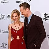 With Tom Hiddleston