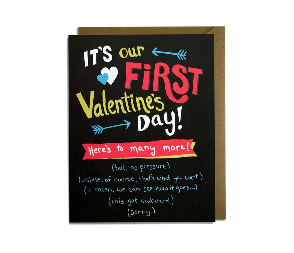 Funny First Valentine's Day Card