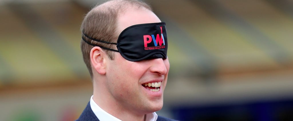 Prince William Attempts to Pitch a Tent While Blindfolded, Laughter Ensues