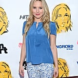 Kristen Bell looked gorgeous in blue at the Hit and Run premiere in LA.