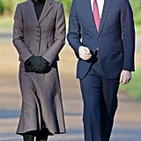 Kate Middleton Wraps Up Her Birthday Weekend With a Smile and Prince William by Her Side