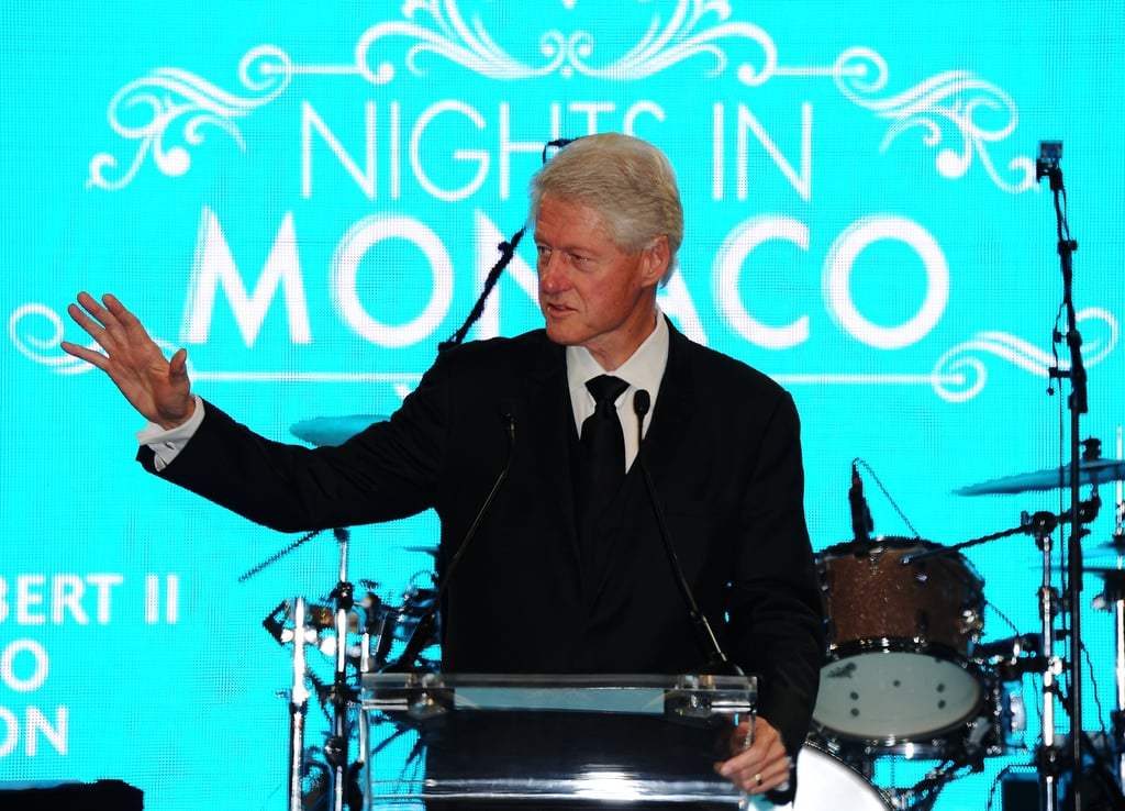 Bill Clinton took to the podium at the Nights in Monaco Gala Fundraiser.