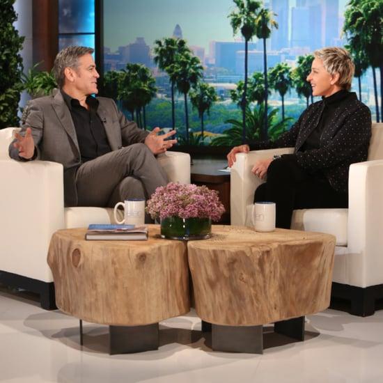 George Clooney Sur le Plateau d'Ellen Degeneres