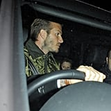 David Beckham left the game in his car.