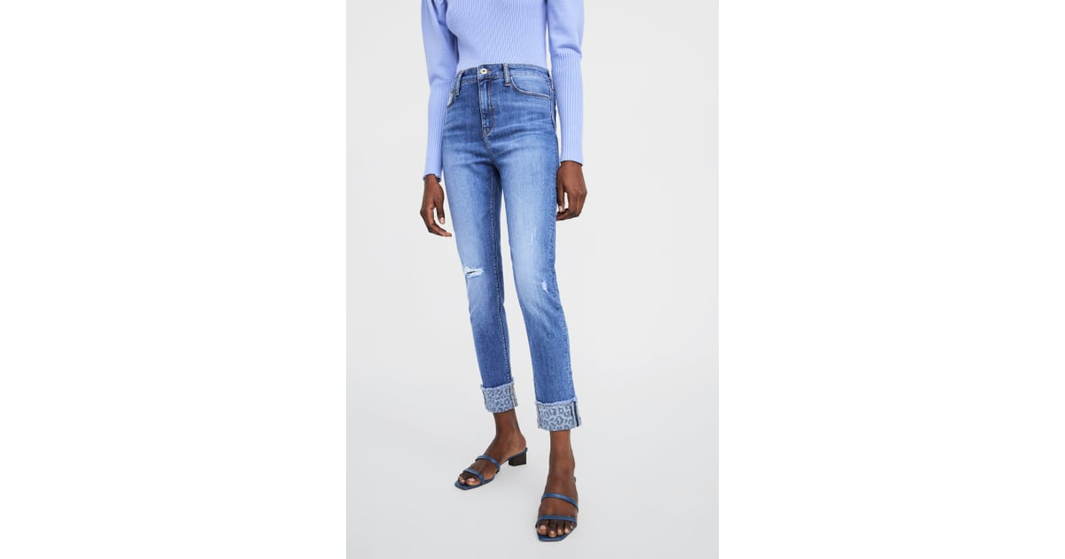 5bc6e96c Zara Hi-Rise Z1975 Jeans With Turned-Up Cuffs | Gigi Hadid Jeans ...