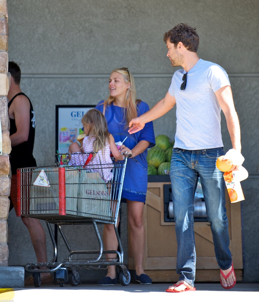 """It was a star-studded morning at a Gelson's grocery store in LA yesterday, when Busy Philipps and her daughter Birdie bumped into her old Dawson's Creek costar Joshua Jackson. Josh laughed with the Cougar Town star as they headed out into the parking lot, and they exchanged a hug before going their own ways. Busy's in the middle of a big week. She turned 33 on Monday, and celebrated with some Dawson's nostalgia. Busy tweeted about her birthday lunch, saying, """"My birthday lunch of a sub from Jersey Mike's is giving me serious Wilmington, NC vibes! I ate there all the time!"""" She also treated herself to a new 'do, and got peach highlights in her blonde hair.  Josh and Busy seem to be keeping similar schedules, since both stars attended separate award shows last week. Busy wore a Michael Kors gown to take the stage at the Critics' Choice Television Awards in LA, while Josh traveled to Vegas for the NHL Awards with girlfriend Diane Kruger."""