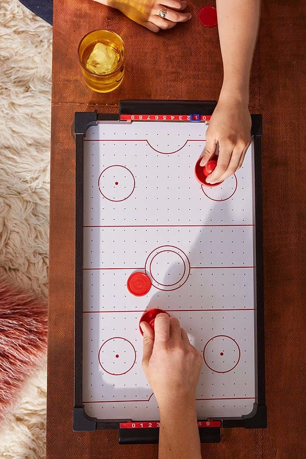 Strip air hockey with aubrey belle cherry and devon p3 - 2 3