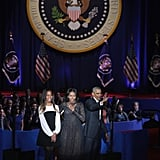 Michelle and Sasha Obama During Barack's Farewell Speech