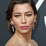 Jessica Biel's Gray Roots at the 2018 Golden Globes