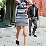 Kendall Jenner showed off her stems in NYC on Wednesday.