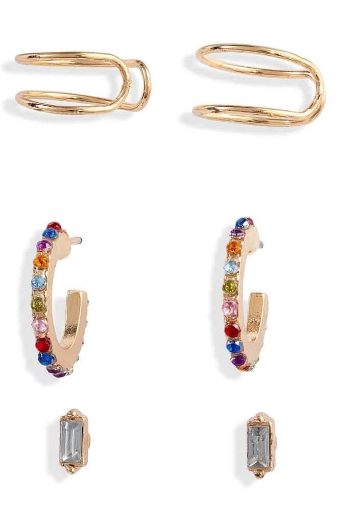 c65610cd52 BP. x Claudia Sulewski Set of 3 Ear Cuffs & Earrings | Claudia ...