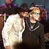 Elton John and Tim McGraw at the 2003 American Music Awards