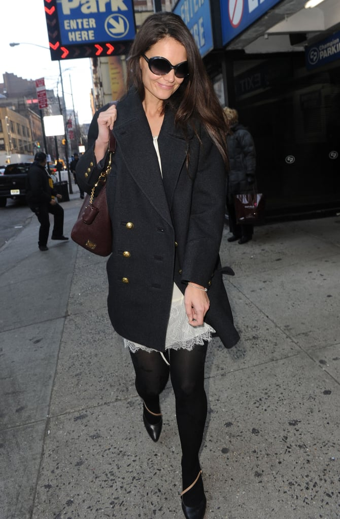Katie Holmes was spotted in NYC.