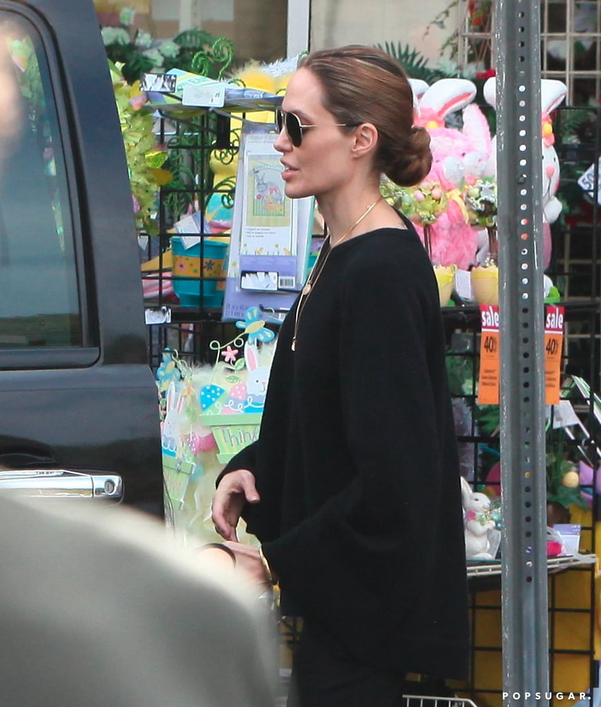 The Jolie-Pitts Mix Shopping and Sand on a Family Weekend