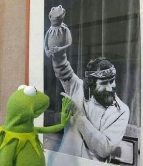 """RIP to Jim Henson, who died 24 years ago today."" Source: Reddit user Hupflupper via Imgur"
