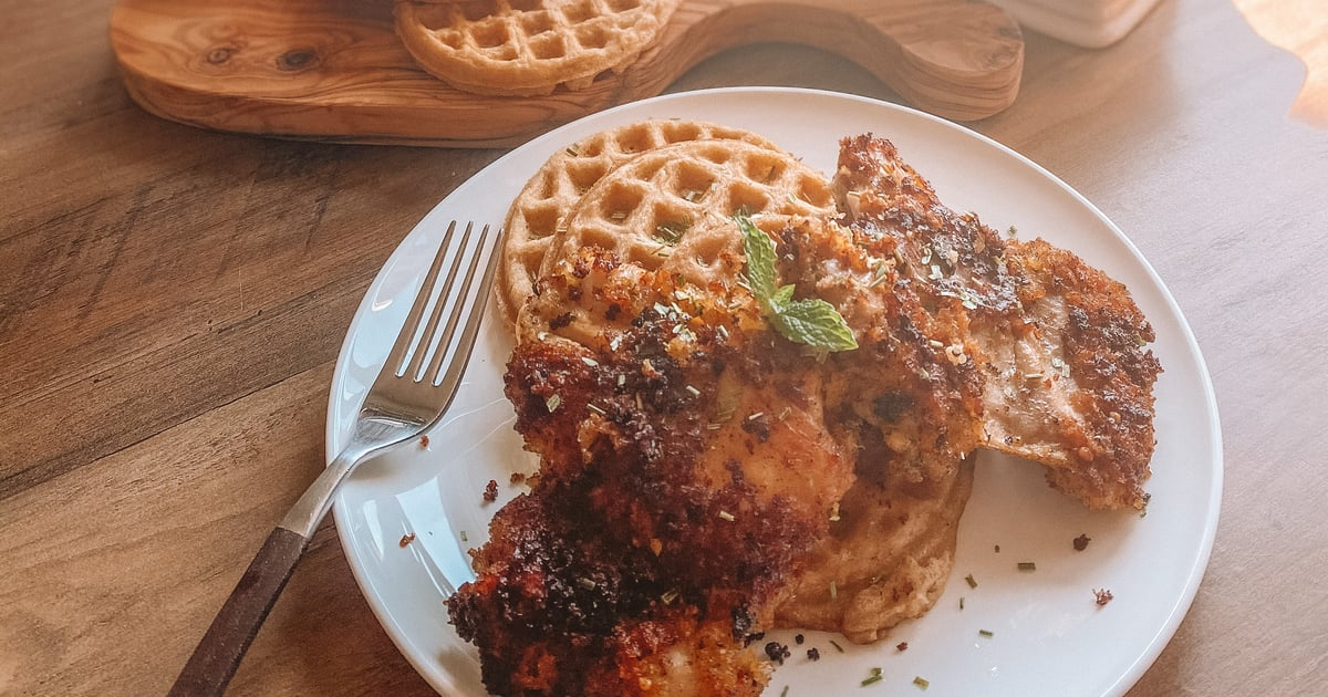 This Chicken-and-Waffles Recipe Puts a Slightly Healthier Spin on a Southern Classic