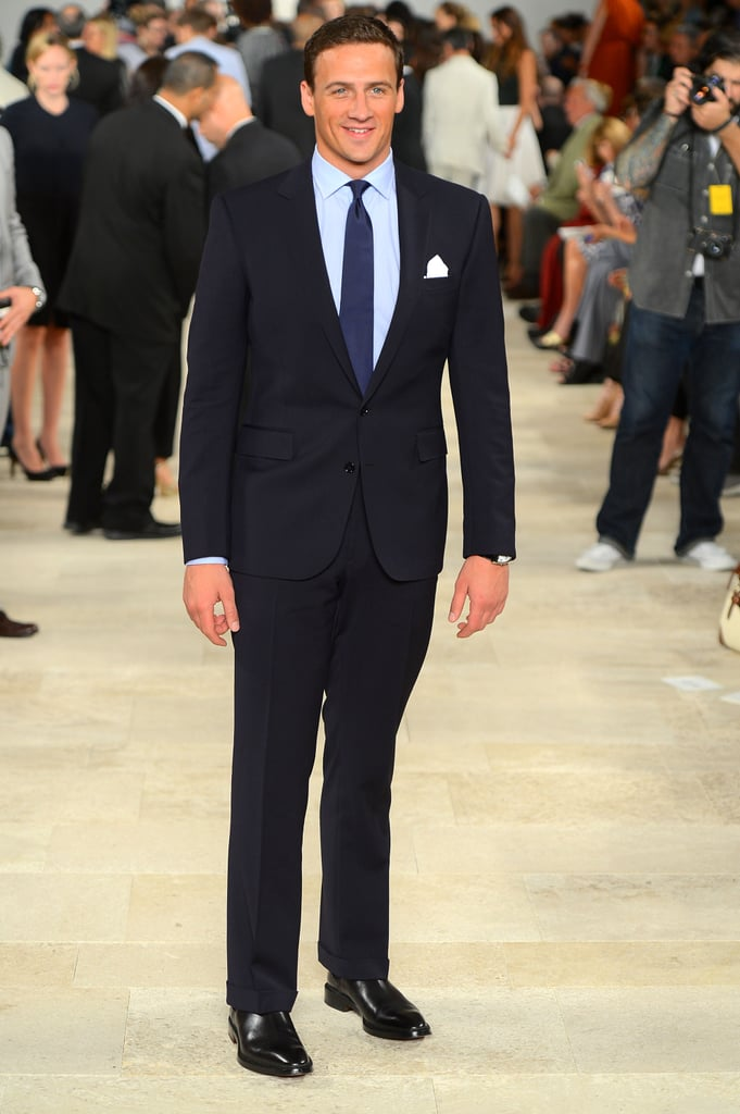 Ryan Lochte looked slick and sophisticated at the Ralph Lauren show.