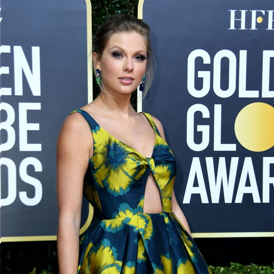 Taylor Swift's Hairstyle Without Bangs at Golden Globes 2020