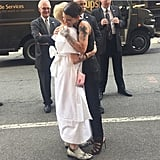 Hugging it out with co-star Lori Petty ahead of an Orange Is the New Black fan event on June 12.