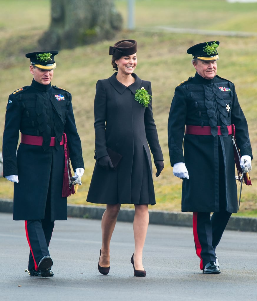 The Duke & Duchess of Cambridge Celebrate St. Patrick's Day at a Parade