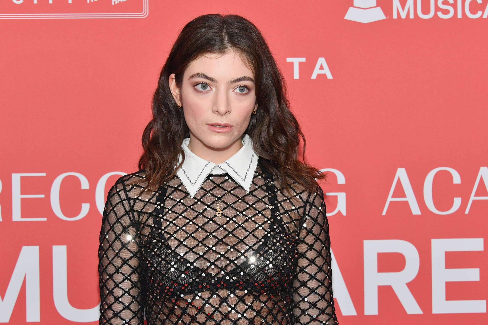 NEW YORK, NY - JANUARY 26:  Recording artist Lorde attends MusiCares Person of the Year honoring Fleetwood Mac at Radio City Music Hall on January 26, 2018 in New York City.  (Photo by Dia Dipasupil/Getty Images )