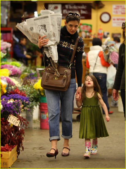 Katie Holmes and Suri having fun shopping