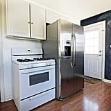 Before the makeover, Kristin's refrigerator was toward the back of the kitchen.
