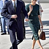 July: Meghan and Harry land in Ireland for a quick handful of appearances with politicians and the public.