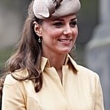 While attending the Thistle ceremony in 2012, the duchess added her Whiteley Cappuccino hat.