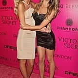 Erin Heatherton and Lily Aldridge had fun on the pink carpet together.