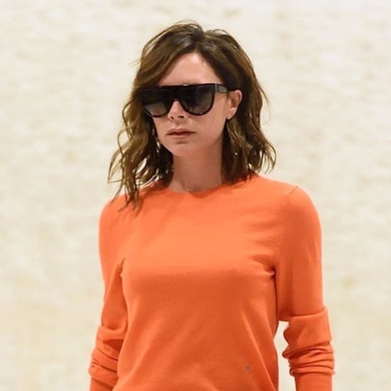 Victoria Beckham Orange and Green Outfit