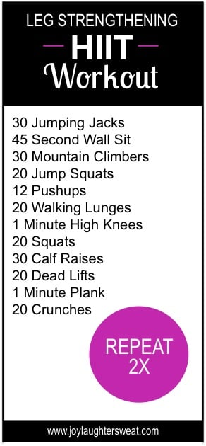Printable Workouts We Love
