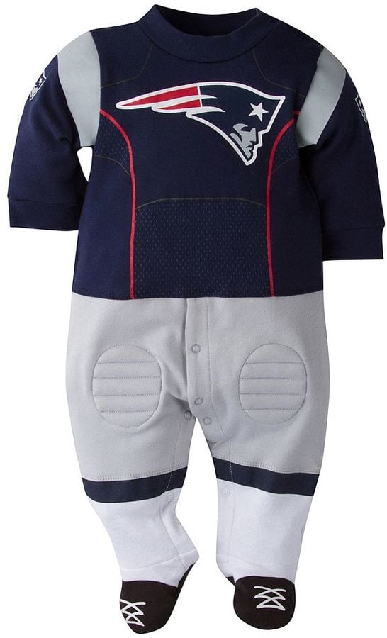 cheap for discount a9dcd 6a0ff Baby New England Patriots Team Uniform Footed Sleep and Play ...