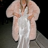 Anna Dello Russo at the Armani Privé Paris Haute Couture show.