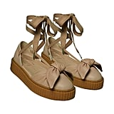 Creeper Bow Sandal in Natural