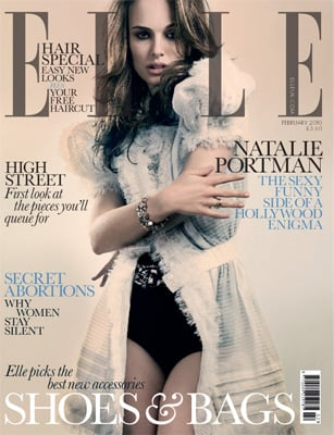 Photos of Natalie Portman on the Cover of British Elle Magazine Talking About Nudity and New Movie Brothers 2010-01-05 04:56:04
