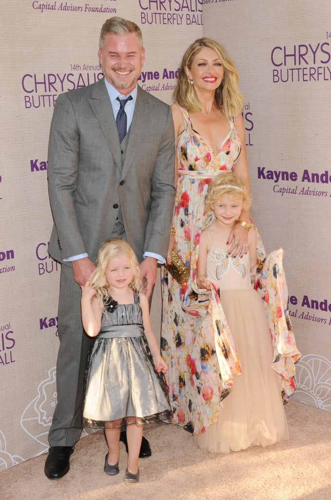 Eric Dane and Rebecca Gayheart with their daughters in an event