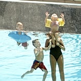 Lynne Spears gave Maddie Aldridge a lift as Sean Preston Federline and Jayden James Federline splashed around.