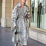 Style an Animal-Print Coat With Strappy Heels