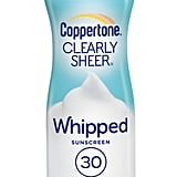 Coppertone Clearly Sheer Whipped Sunscreen SPF 30