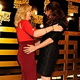 Amy Poehler and Maya Rudolph were excited to greet each other at the Comedy Awards in NYC.